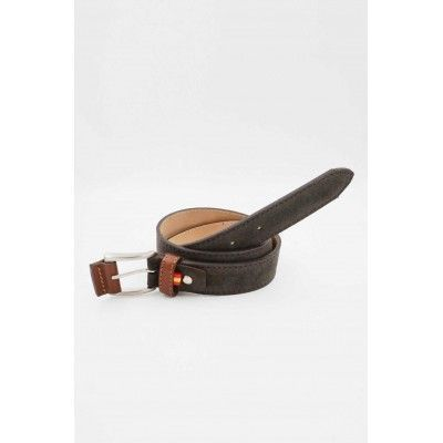 SPAGNOLO smooth split leather belt