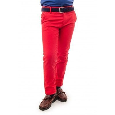 PANTALON CHINO BASICO PIPING GAB. ELAST SPAGNOLO
