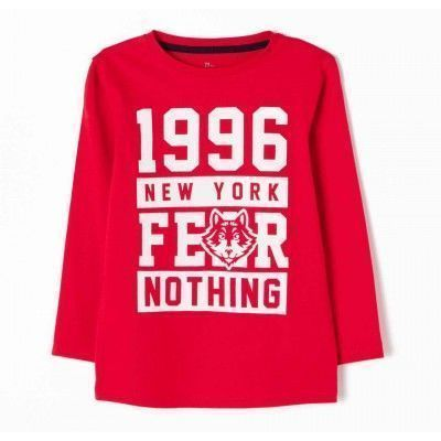 Camiseta niño manga larga ZIPPY fear nothing rojo