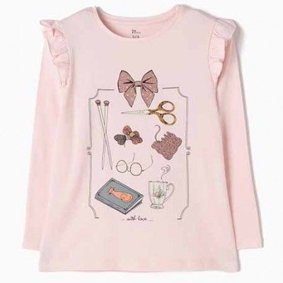 Camiseta de manga larga rosa White love