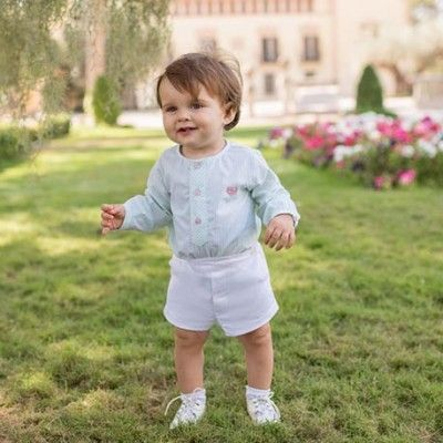 Baby set long-sleeved shirt and shorts Dolce Petit