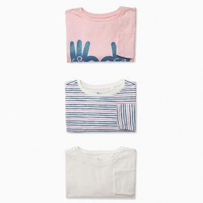 "PACK of 3 short sleeve t-shirts for girls ""SPREAD SOME LOVE"""