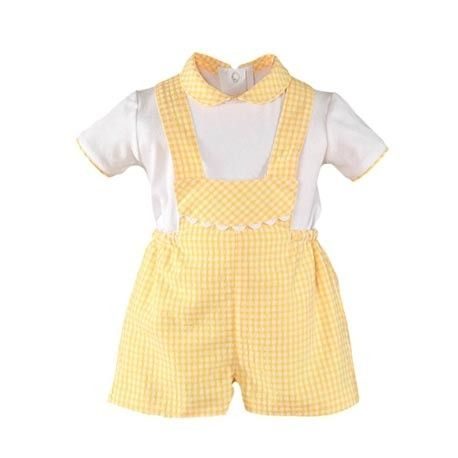 Baby boy outfit with yellow Miranda Textil pictures
