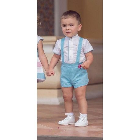 Turquoise baby boy outfit Miranda Textil 27/0135/23