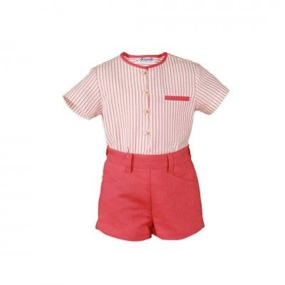 Set baby boy striped shirt and shorts Miranda Textil