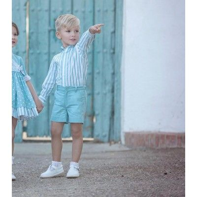 Green-blue children's outfit Miranda Textil shirt and pants