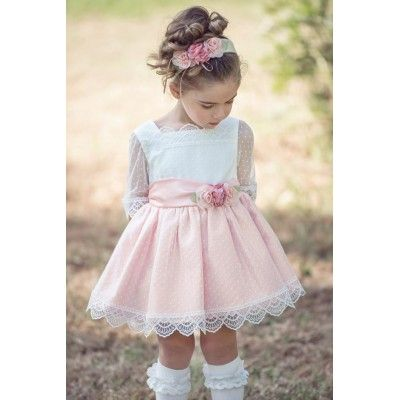 Children's ceremony dress in salmon color Miranda Textil