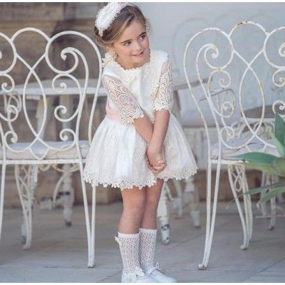 Miranda Textil beige children's ceremony dress