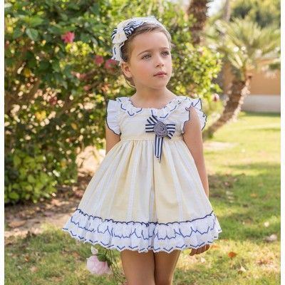 Dolce Petit girls yellow daisies children's dress