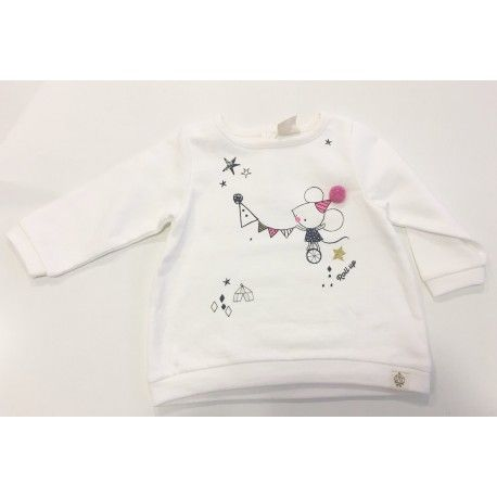 Baby girl sweatshirt with print