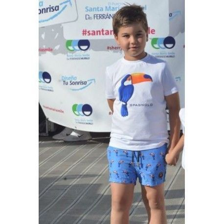 Children's t-shirt with spagnolo toucan