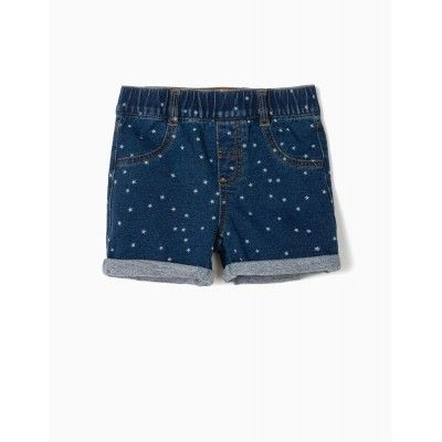 GIRLS DENIM BLUE BABY GIRLS SHORT DARK