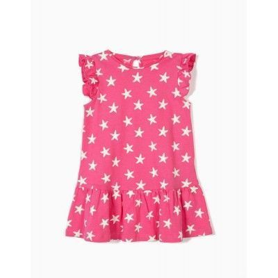 BABY GIRL DRESS 'STARFISH & MERMAID', PINK