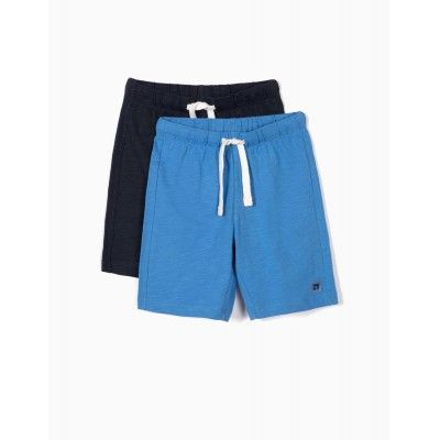 PACK OF 2 SPORT SHORT FOR BOYS, BLUE AND NAVY BLUE