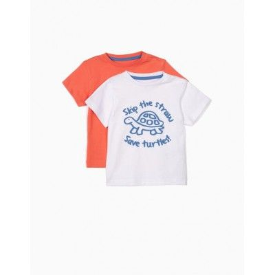 Pack de 2 camisetas bebé niño skip the straw