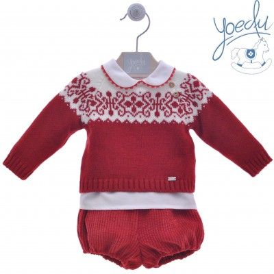Baby set 3 pieces Greca red YOEDU