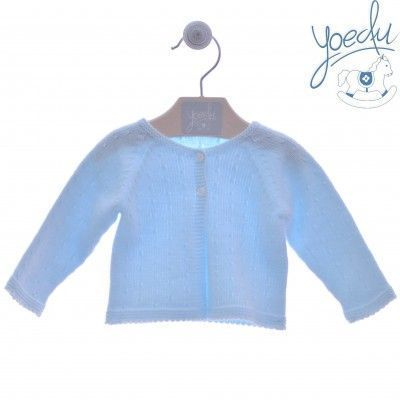 YOEDU long blue baby cardigan