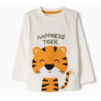 Baby boy long sleeve t-shirt with tiger