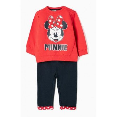 Chandal para bebé niña Minnie en color rojo y azul