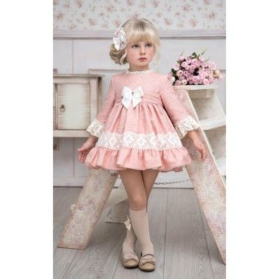 Miranda powder pink children's flared dress