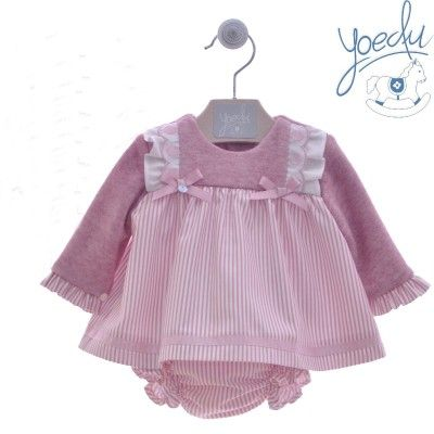 Pink striped baby jesus dress Lana Yoedu family