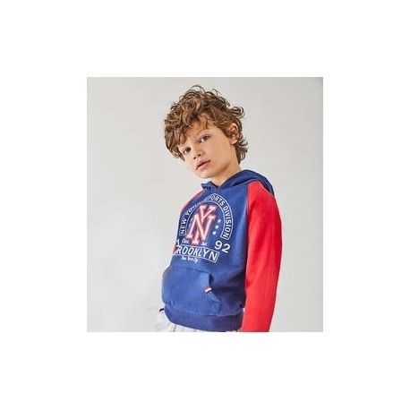 Blue sports tracksuit for boy with hoodie