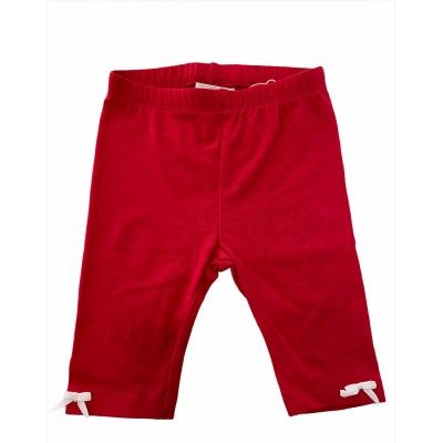 Red leggings with white ties UBS2
