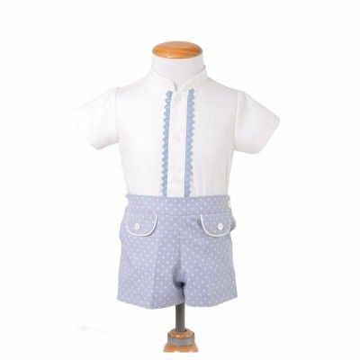 Blue baby boy set with polka dots ALVES