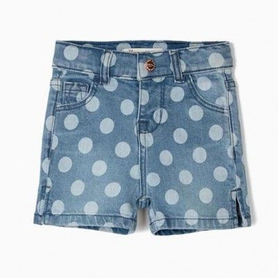 Denim shorts for baby girl blue