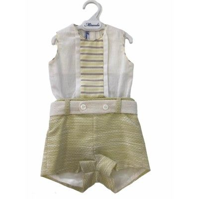 Set baby boy Miranda Textil 0111 shirt-pants