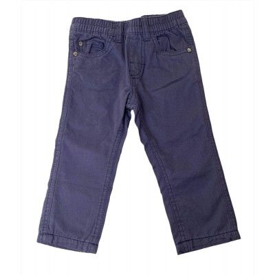 Long navy blue baby pants UBS2