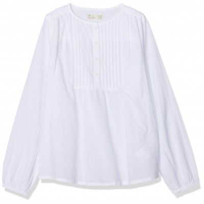 ZIppy long sleeve white blouse