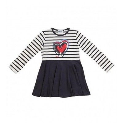 Striped ubs2 heart dress