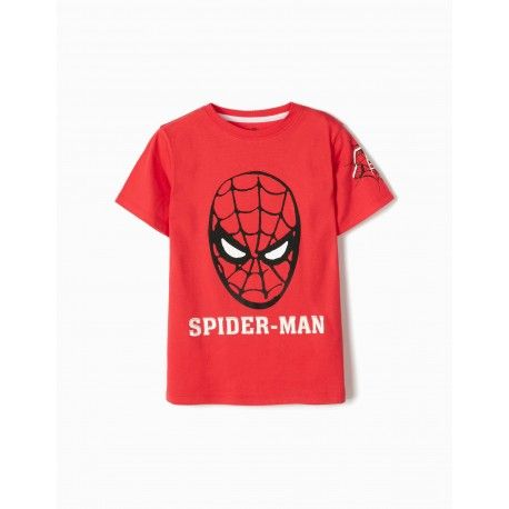 Spider-man red zippy t-shirt for boys