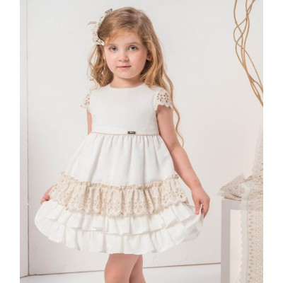 Nekenia children's dress White collection with flare