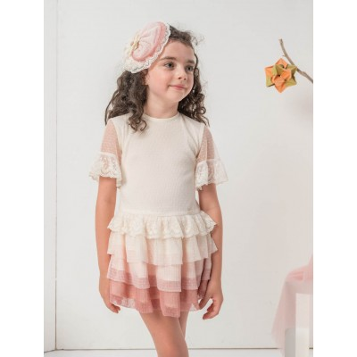 Nekenia children's dress in embellished pleated tulle 2121840