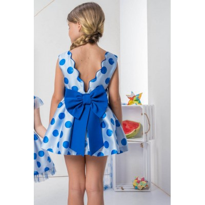 Nekenia INK BLUE children's polka dot dress 2121837