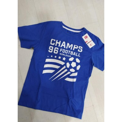 Camiseta infantil niño azul football wordlcup Zippy