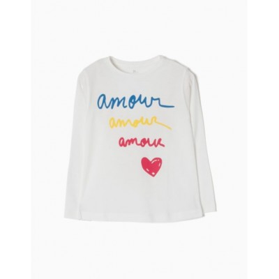 Camiseta amour amour manga larga ZIPPY