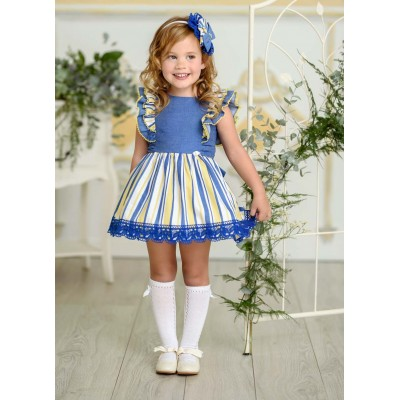 Miranda children's blue striped dress 0250 / V