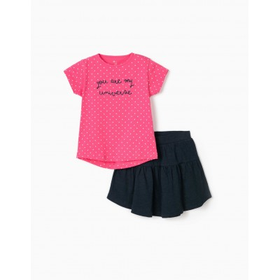 My universe Zippy girl shirt and skirt set