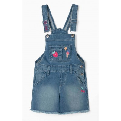 GIRLS 'STAY FRESH' DENIM SHORT DUGE, AZUL