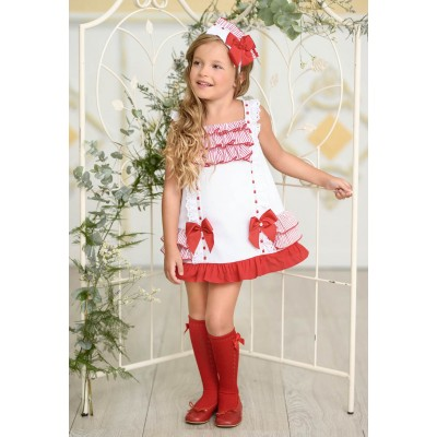 Miranda Textil children's red ribbon dress
