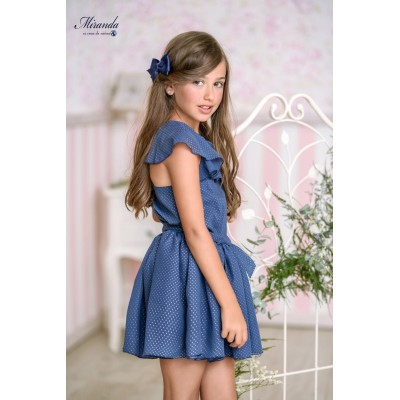 Children's navy dress Miranda Textil 0359 / V