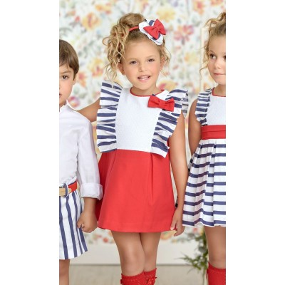 Children's dress Miranda red Loraine 0260 / V