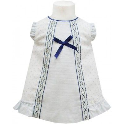 Miranda white dress with bow